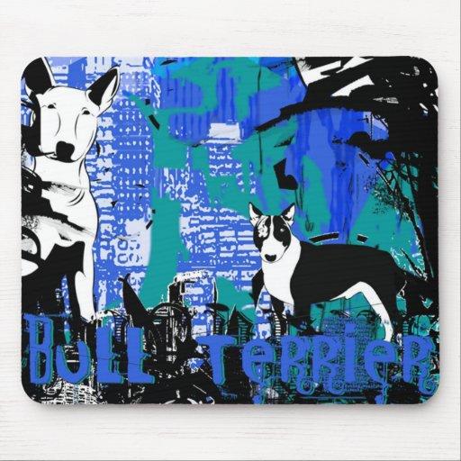 Artistic Bull Terrier Dog Breed Design Mousepad