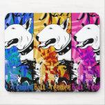 Artistic Bull Terrier Dog Breed Design Mousepads