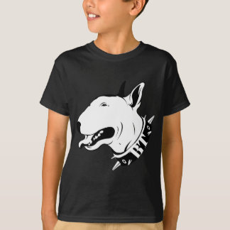 Artistic Bull Terrier Dog Breed Design T-Shirt