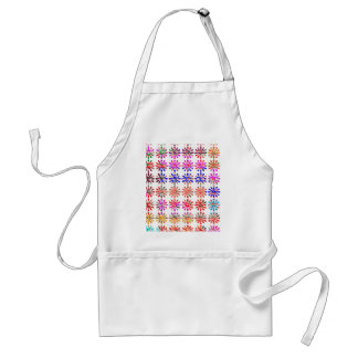 Artistic Bunch of Flowers EACH Painted UNIQUELY Adult Apron