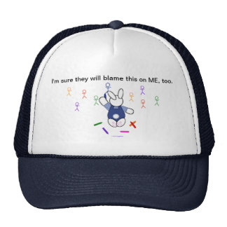Artistic Bunny - They'll Blame Me Mesh Hats