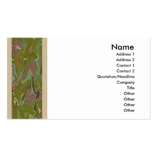 artistic business card with front/back design