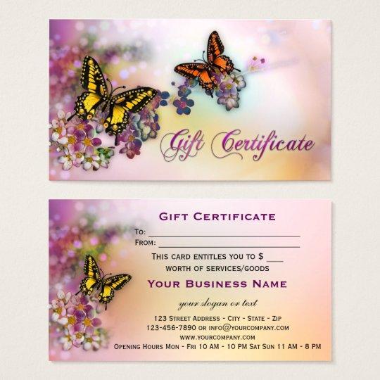Artistic Butterflies Boutique Gift Certificate