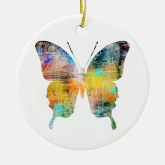 Artistic Butterfly Christmas Ornament