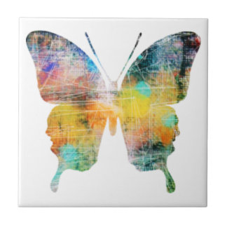 Artistic Butterfly Tile