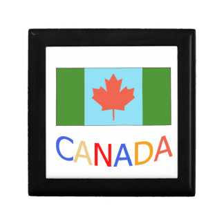 Artistic Canada flag patriotism.  Canada Day. Jewelry Boxes