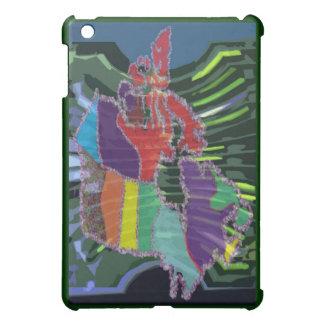 Artistic Canadian Map and MapleLeaf iPad Mini Covers