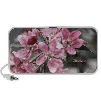 Artistic Cherry Blossom on Black and White  Backgr iPod Speaker