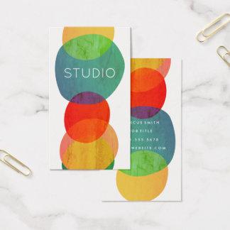 Artistic Circular Shapes Business Card