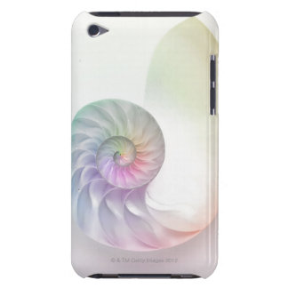 Artistic colored nautilus image iPod Case-Mate cases