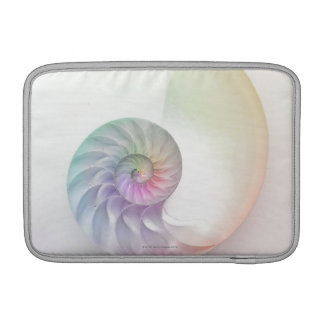 Artistic colored nautilus image MacBook sleeves