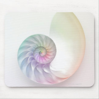 Artistic colored nautilus image mouse mat