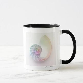 Artistic colored nautilus image mug