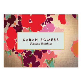 Artistic Colorful Floral Chic Fashion Boutique Business Card Templates