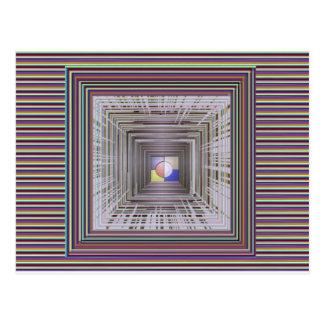 ARTISTIC Cosmic Infinity ART Light end of Tunnel Postcard