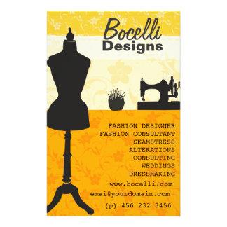 Artistic Craft Atelier Seamstress Fashion Designer 14 Cm X 21.5 Cm Flyer