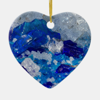 artistic creations with glass ceramic heart decoration