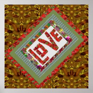 Artistic CRYSTAL Plates N Raspberry LOVE Print