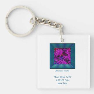 artistic cubes 2 (I) Single-Sided Square Acrylic Key Ring