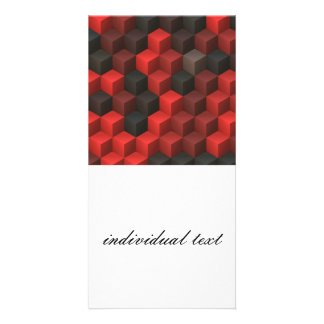 artistic cubes 7 red black (I) Picture Card