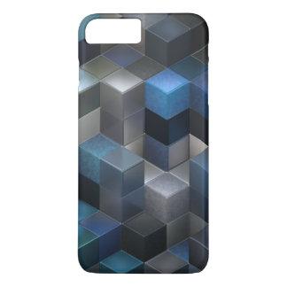 artistic cubes 9 blue (I) iPhone 7 Plus Case