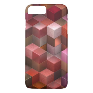 artistic cubes 9 pink red (I) iPhone 7 Plus Case