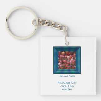 artistic cubes 9 pink red (I) Single-Sided Square Acrylic Key Ring
