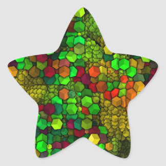 artistic cubes green (I) Star Sticker