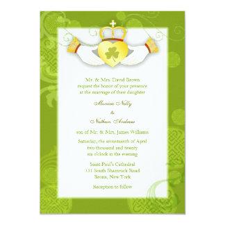 Artistic Cute Claddagh Heart Irish Wedding 13 Cm X 18 Cm Invitation Card