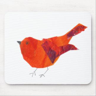 Artistic Cute Red Bird Mouse Mat