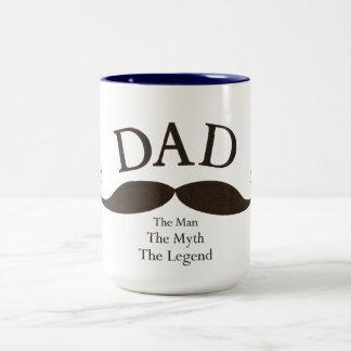 Artistic Dad Illustrated Mustache Mug