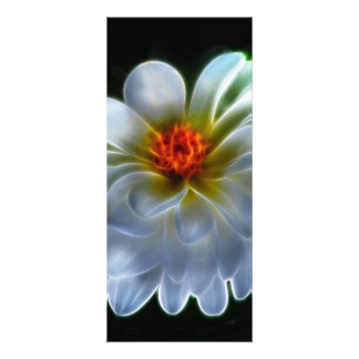 Artistic dahlia and meaning rack card template
