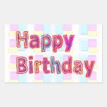 Artistic Decorative HAPPY BIRTHDAY Script Stickers