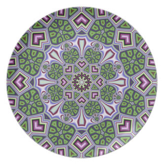 Artistic decorative plate with kaleidoscope design
