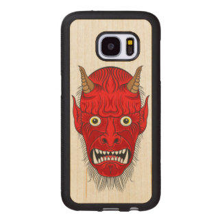 Artistic Demon Head Wood Samsung Galaxy S7 Case