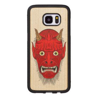Artistic Demon Head Wood Samsung Galaxy S7 Edge Case