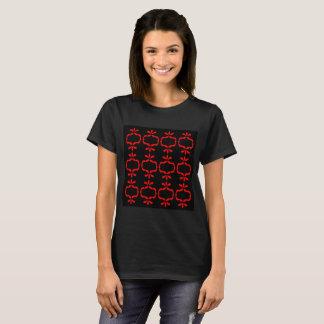 Artistic designers Tshirt : MOROCCO RED BLACK