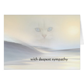 Artistic Dream Sympathy Cat Card
