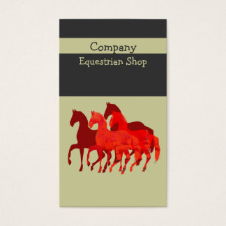 Artistic Easy   Custom  Watercolor Magic  Horses Business Card