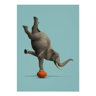 Artistic Elephant Poster