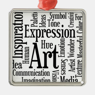 Artistic Expression for Artist or Creative Person Christmas Ornament