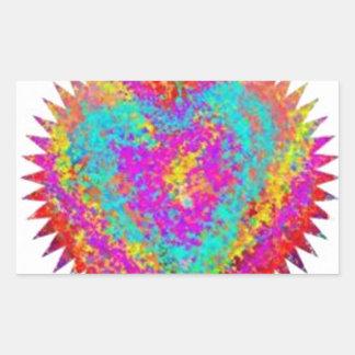 ARTISTIC Expression : MATTER OF HEART Rectangular Sticker