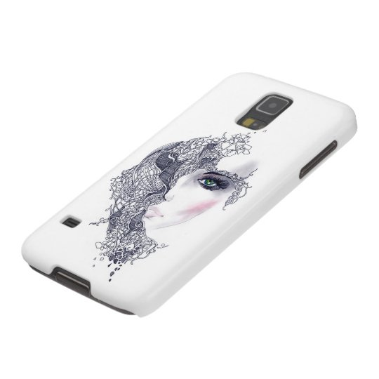 Artistic Female Head Samsung Galaxy S5 Case