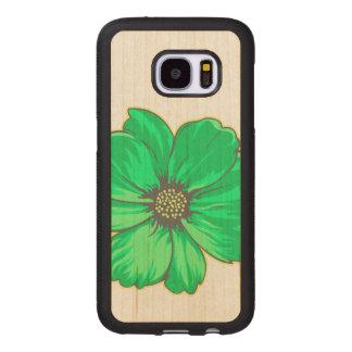 Artistic Flower Design Wood Samsung Galaxy S7 Case