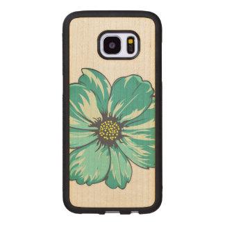 Artistic Flower Design Wood Samsung Galaxy S7 Edge Case