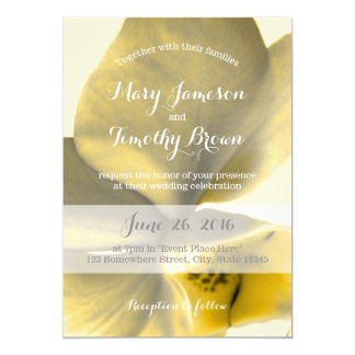 Artistic Flower in Yellow Tones - Wedding 13 Cm X 18 Cm Invitation Card