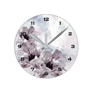 Artistic Flowers Wall Clock