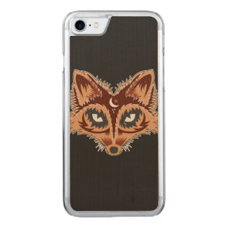 Artistic Fox (brown) Carved iPhone 8/7 Case