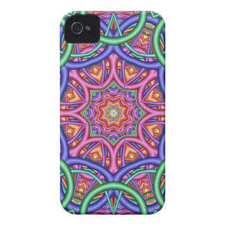 Artistic Fractal Kaleidoscope iPhone 4 Case