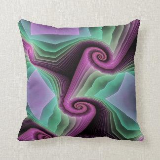 Artistic Fractal Spiral Throw Pillow